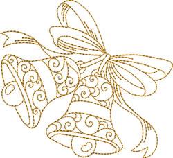 Swinging Golden Bells embroidery design