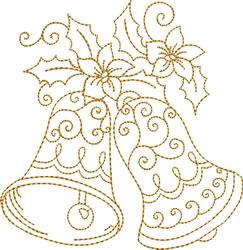 Golden Bells   Pointsettia embroidery design