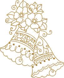 Scalloped  Golden Bells embroidery design
