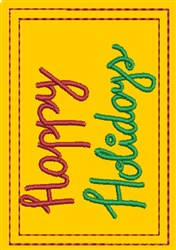 Happy Holidays Gift Card Holder embroidery design