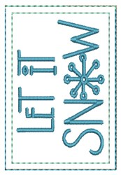 Let It Snow Gift Card Holder embroidery design