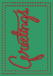 Greetings Gift Card Holder embroidery design