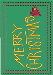 Merry Christmas Gift Card Holder embroidery design
