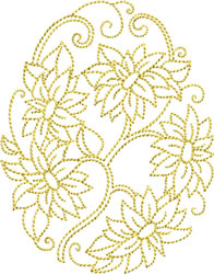 Golden Easter Daisies embroidery design