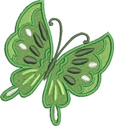 Go Green Butterfly embroidery design