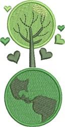 Go Green Tree embroidery design