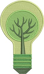 Go Green-Think Green embroidery design