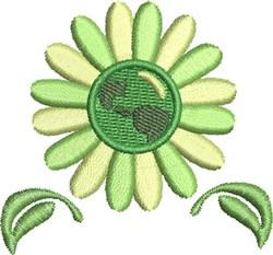 Go Green Earth embroidery design