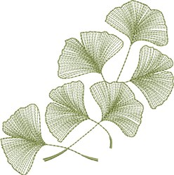 Ginkgo Leaves 1 embroidery design
