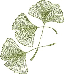 Ginkgo Leaves embroidery design