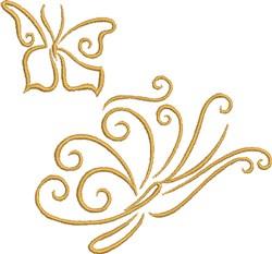 Butterflies In Flight embroidery design