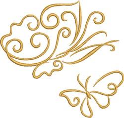 Elegant Butterflies embroidery design