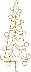 Golden Modern Tree embroidery design