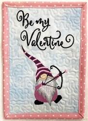 ITH Gnome Valentine Mug Rug 1 embroidery design