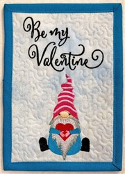 ITH Gnome Valentines Mug Rug 3 embroidery design