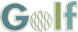 Golf Lettering embroidery design