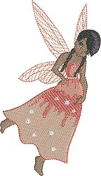 Peach Gracious Fairy embroidery design