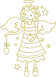 Golden Angel embroidery design