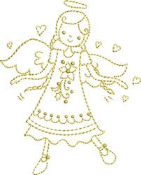 Golden Angel embroidery design