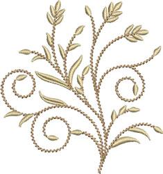 Golden Wheat Stalks embroidery design