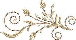 Embellished Wheat embroidery design