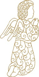 Nativity Praying Angel embroidery design