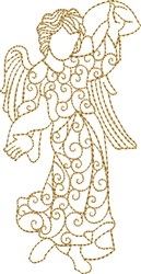 Nativity Angel with Ribbon embroidery design