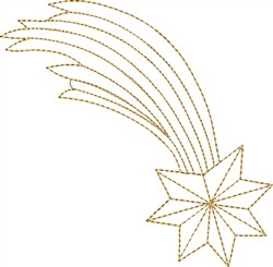 Nativity Falling Star embroidery design