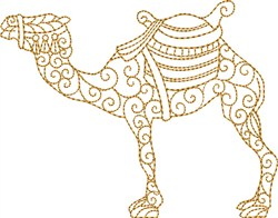 Nativity Camel embroidery design
