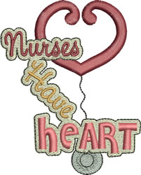Nurses Have Heart embroidery design