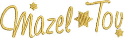 Mazel Tov embroidery design