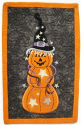 ITH Pumpkin Mug Mat embroidery design