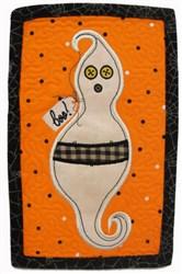 ITH Prim Ghost Mug Mat embroidery design