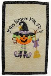 If Broom Fits Mug Mat embroidery design