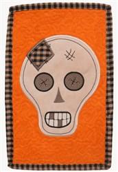 ITH Prim Skull Mug Mat embroidery design