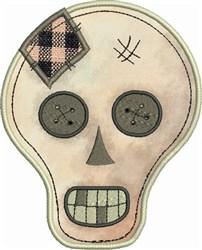 Prim Skull Applique embroidery design