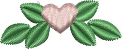 Tiny Floral Heart embroidery design