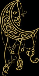 Moon Fretwork embroidery design
