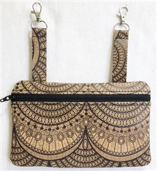 ITH Cork Hip Bag Large embroidery design