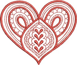 Exotic Heart embroidery design