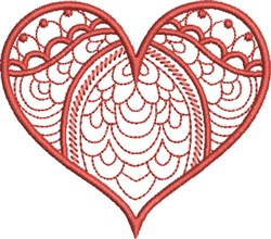 Dreamy Heart embroidery design
