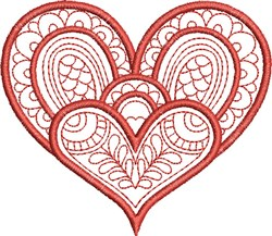 St. Valentines Heart embroidery design