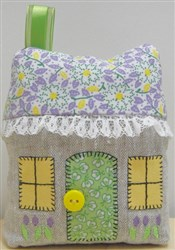 Cottage Pincushion embroidery design