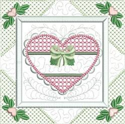 Quilt  Heart  Block embroidery design