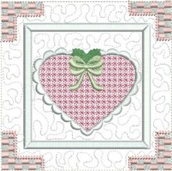 Heart Quilt Block embroidery design