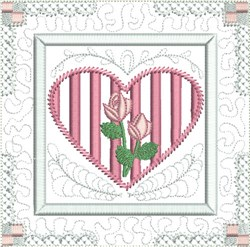 Heirloom Heart Quilt Block embroidery design
