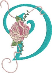 Harrington Rose D embroidery design