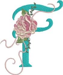 Harrington Rose F embroidery design