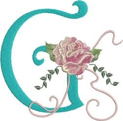 Harrington Rose G embroidery design