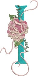 Harrington Rose I embroidery design